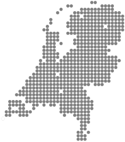 Kaart met MplusKASSA Dealers Nederland